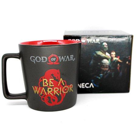 Caneca Buck God Of War Be a Warrior De Cerâmica 400ML