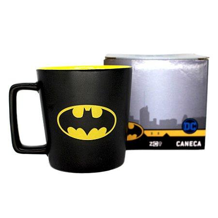 Caneca Buck Batman Logo De Cerâmica 400ML Zona Criativa