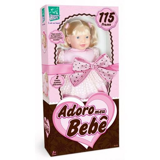 Boneca Adoro Meu Bebe com Fala