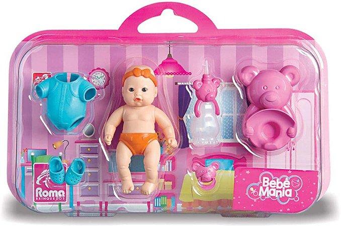 Boneca Bebe Mania Peniquinho com acessorio - Roma