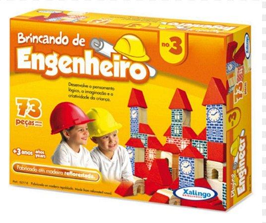 Brincando de Engenheiro 3 com 73 Peças - Xalinga