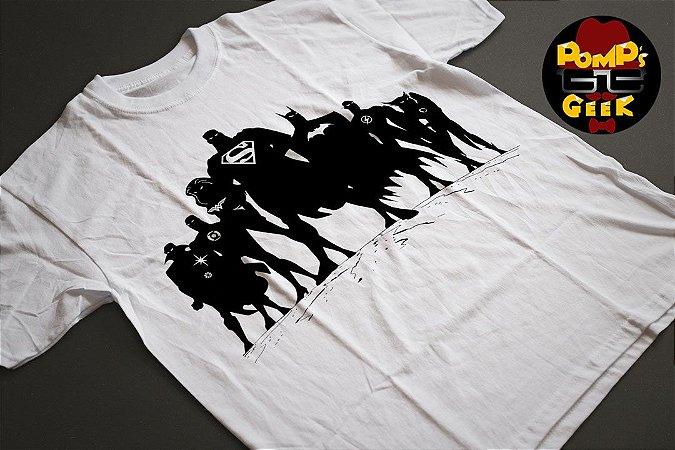 Camiseta manga curta - Liga da Justiça