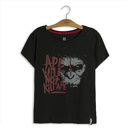 Camiseta Feminina Planeta dos Macacos Caesar