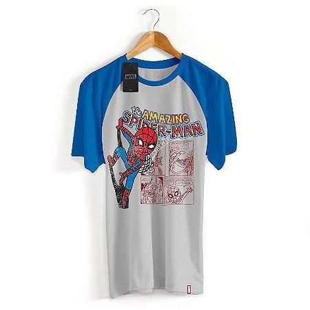 Camiseta Infantil Marvel Homem Aranha Cartoon