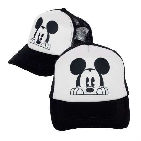 Boné Mickey Preto Personalizado