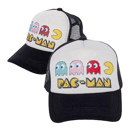 Boné Pac-man Preto Personalizado