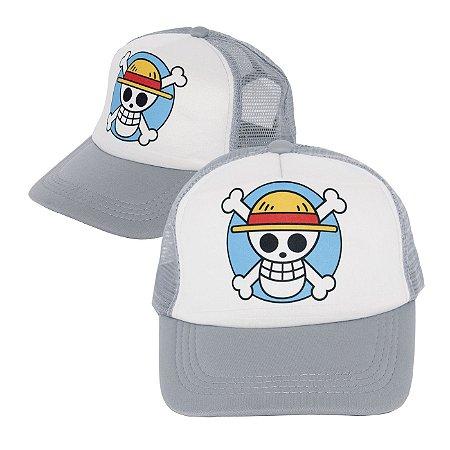 Boné One Piece Cinza Personalizado