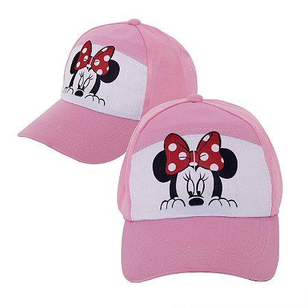 Boné Minnie Rosa Personalizado