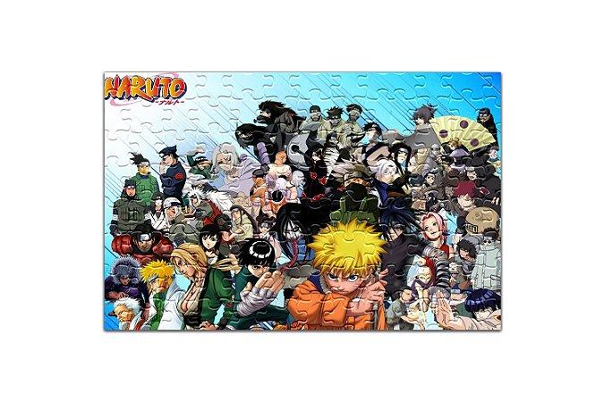Quebra Cabeça Naruto Com Caixa Personalizado em MDF