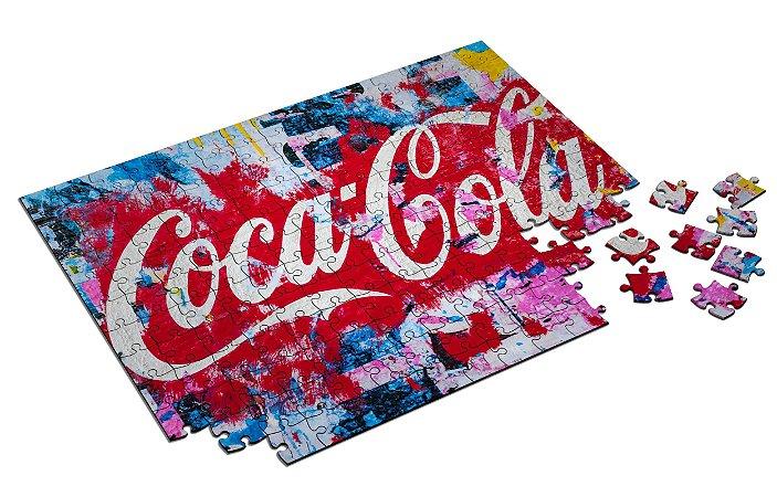 Quebra Cabeça Coca-Cola Personalizado Com Caixa em MDF