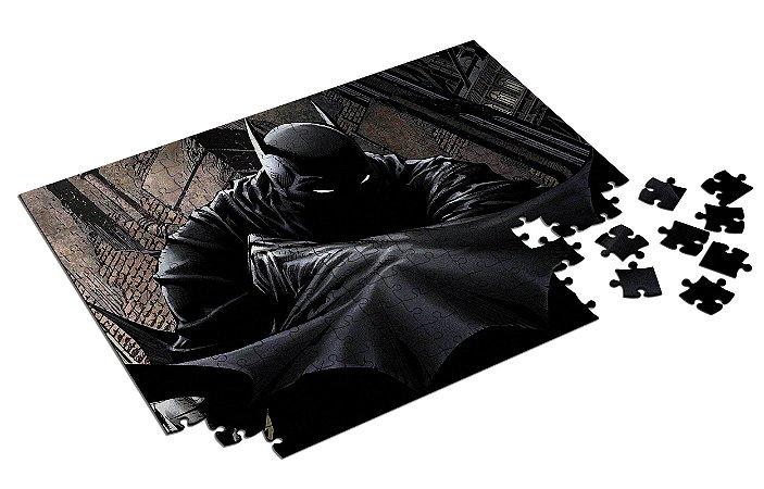 Quebra Cabeça Batman Personalizado Com Caixa em MDF