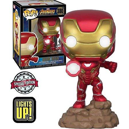 Funko Pop Marvel - Iron man Lights Up(com Led) Nº 380