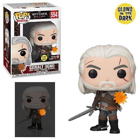 Pop Geralt W/ Igni : The Witcher III Wild Hunt (Exclusivo/Glow in The Dark) #554 - Funko