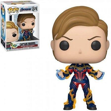 Pop! Capitã Marvel (Captain Marvel): Vingadores Ultimato (Avengers Endgame) #576 - Funko