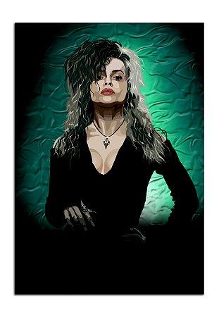 Quadro Decorativo Bellatrix: Harry Potter Personalizado Em Mdf