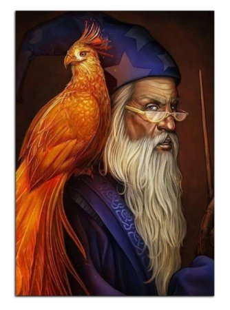 Quadro Decorativo Dumbledore: Harry Potter Personalizado Em Mdf