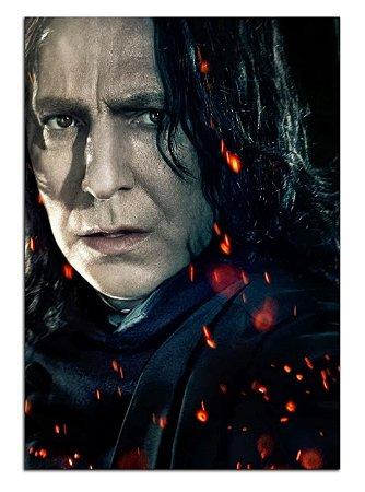 Quadro Decorativo Severus Snape: Harry Potter Personalizado Em Mdf