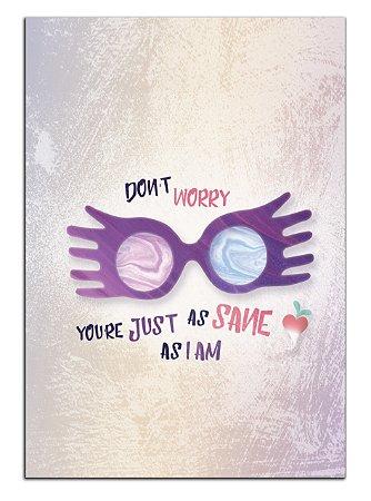 Quadro Decorativo Luna Lovegood: Harry Potter Personalizado Em Mdf