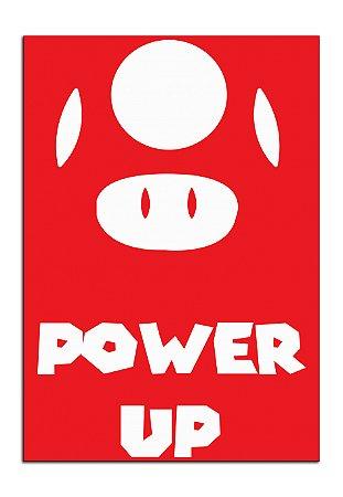 Quadro Decorativo Mario:Power UP Personalizado Em Mdf