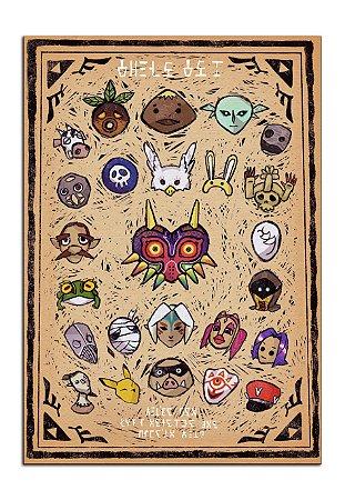 Quadro Decorativo The Legends Of Zelda Personalizado Em Mdf