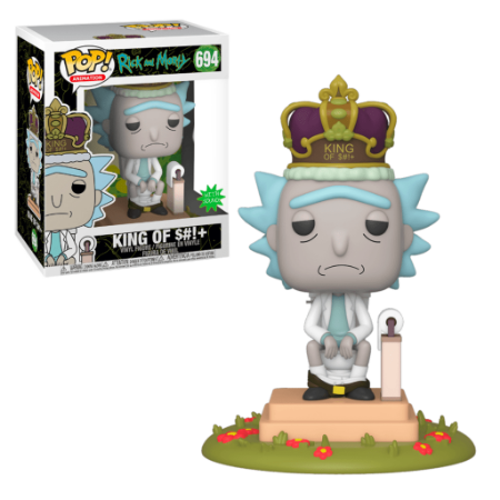 Pop! Rick and Morty: Rick King of S#!+ #694 - Funko Eletronic