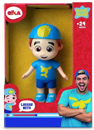 Luccas Neto - Mini Boneco Articulado - 15 Cm - Elka