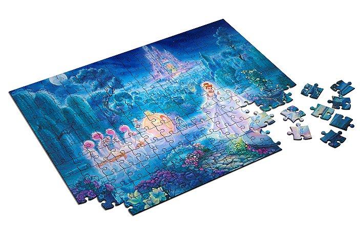 Quebra Cabeça  Cinderella Personalizado Com Caixa em MDF