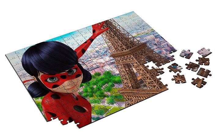 Quebra Cabeça LadyBug Com Caixa em MDF