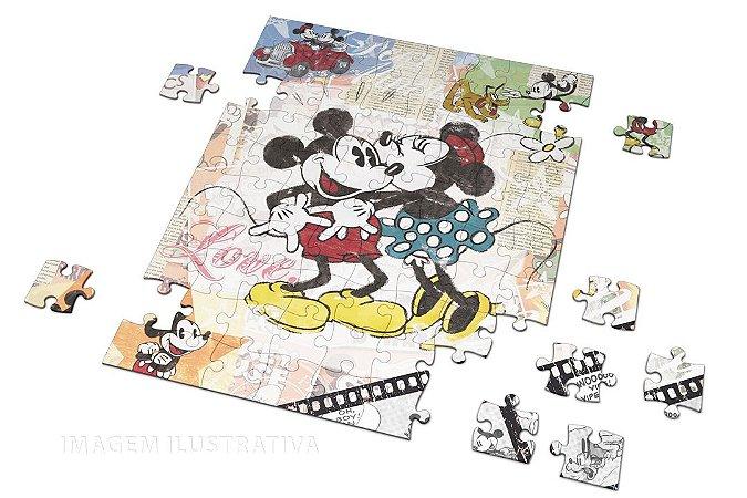 Quebra Cabeça Mickey Com Caixa em MDF