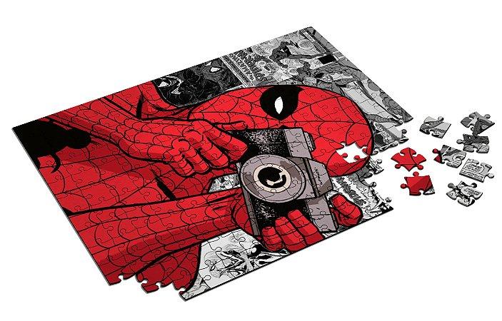 Quebra Cabeça Homem-Aranha Com Caixa em MDF
