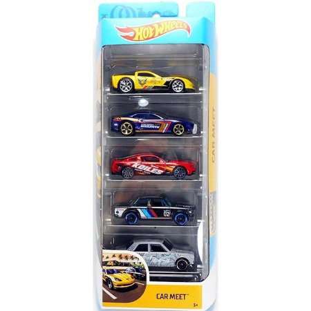 Hot Wheels - Pacote Presente Com 05 Carros Car Meet