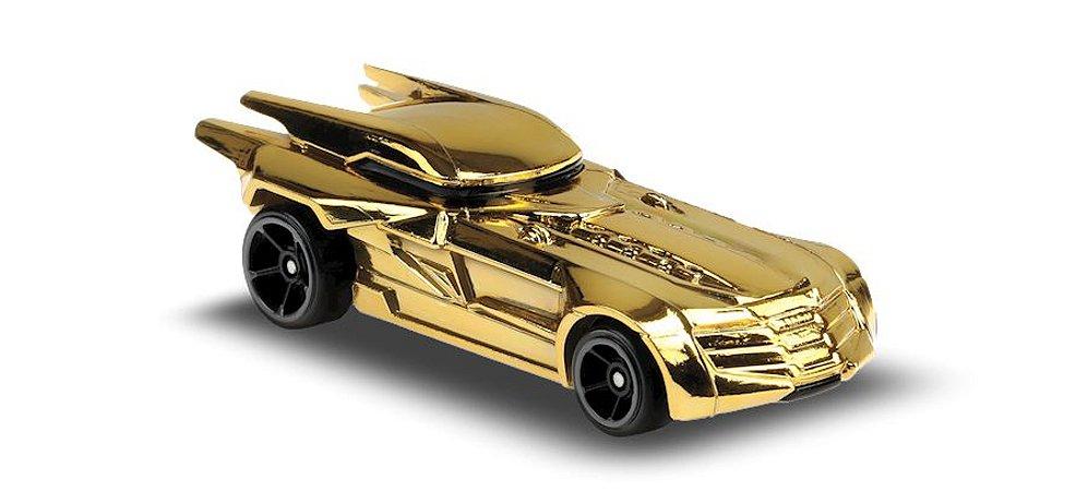 Hot Wheels - Batmobile Dourado - Edição Especial DC - GLN68 - 9/250