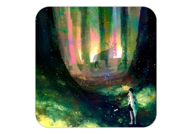 Quadro 18x18 cm - A Princesa Mononoke - Studio Ghibli