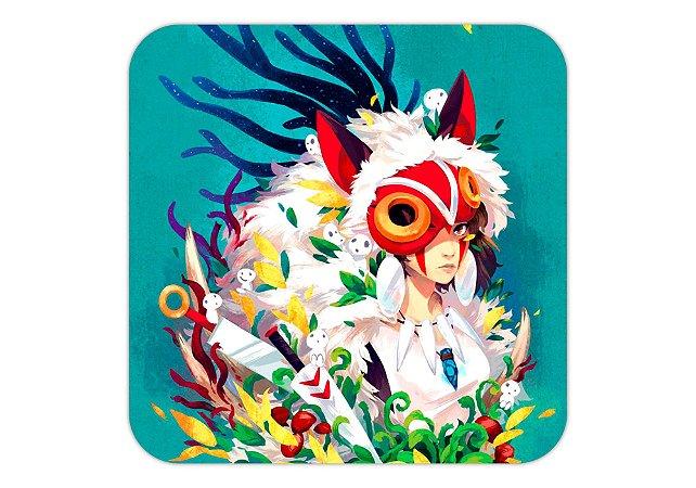 Quadro 18x18 cm - Studio Ghibli - Princesa Mononoke