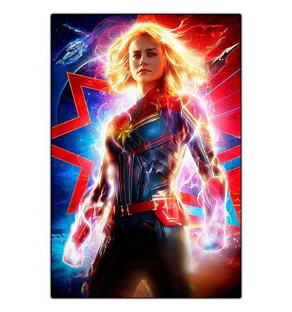 Quadro Decorativo Capitã Marvel em MDF