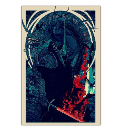 Quadro Decorativo Lord of The Rings Witch King em MDF