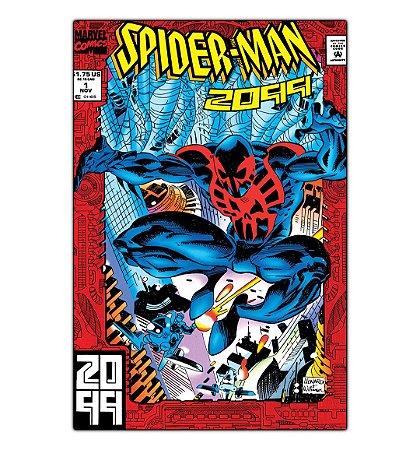Quadro Decorativo Spider-Man 2099 Em Mdf