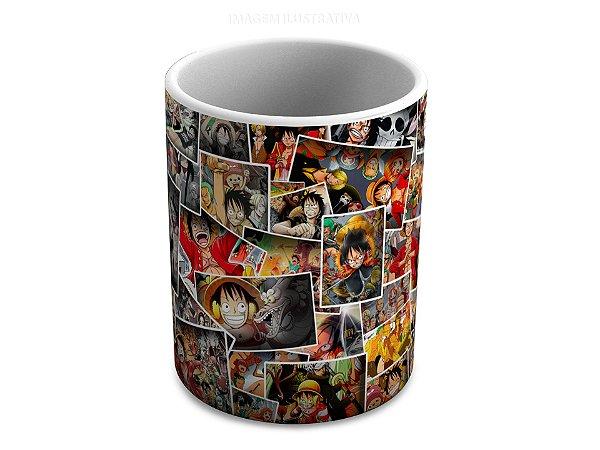 Caneca de Ceramica One Piece Colagem 325 Ml