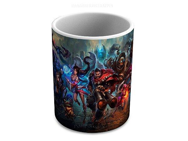 Caneca de ceramica League of Legends 325 Ml Branca