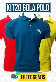c90a900312 Kit com 20 camisas Gola Polo Masculinas - CalvestemiX