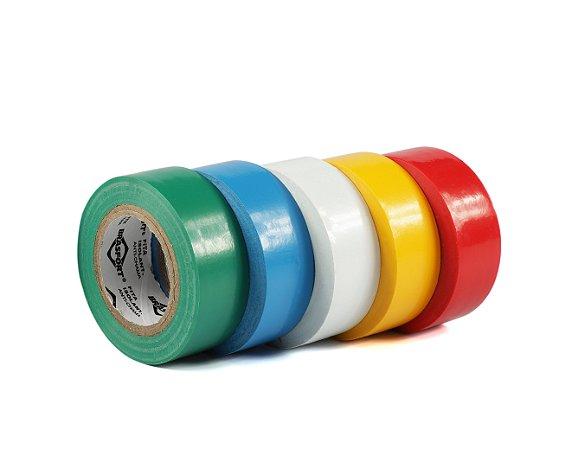 Fita Isolante Colorida 19mm x 10m Brasfort - Kit C/ 5 Rolos