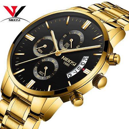 81c6d8d988b Relógio Nibosi Inox Funcional - Texas Relógios