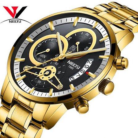 42036cff36b Relógio Nibosi Style Funcional Blindado - Texas Relógios