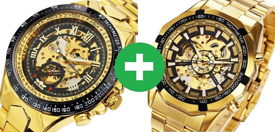 9a4551f660b KIT  2 Relógios automáticos Forsining LUXO - Texas Relógios