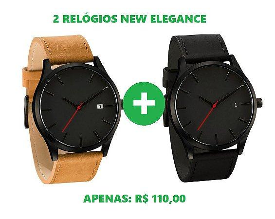 a3fa7fc14b8 KIT  2 Relógios New Elegance - Texas Relógios