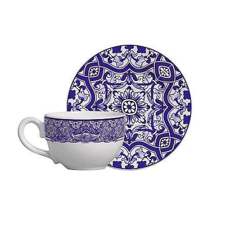 Jogo Xícara de Chá/ Café com Leite 300ml Aveiro Scalla