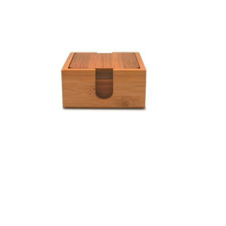 Porta Copos Quadrado em bambu 7 Pcs Yoi