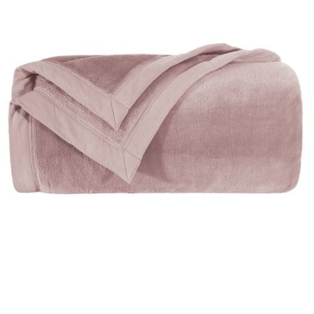 Cobertor Manta Blanket Solteiro 600 Rosê Kacyumara