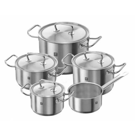 Jogo de Panela Inox 04 Peças Cookware Set Nova Zwilling