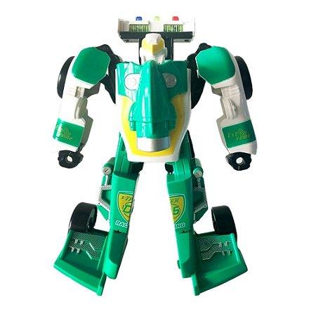 Carro Vira Robô Verde Toyng